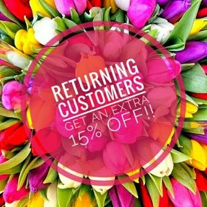 🌷Returning Customers Save More!🌷